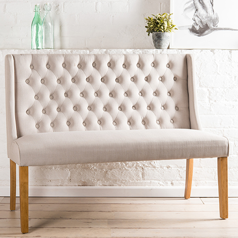 The Mowbray Bench 2 Seater Upholstered Bench Made In The Cellar