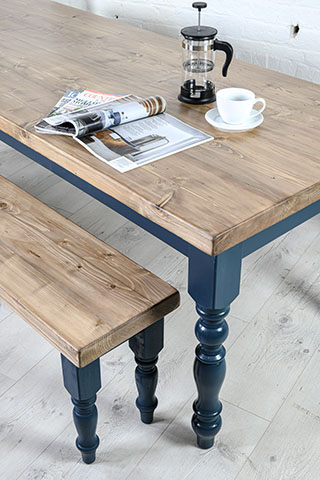 Farmhouse Dining Table With Reclaimed Wood Top Made In The Cellar